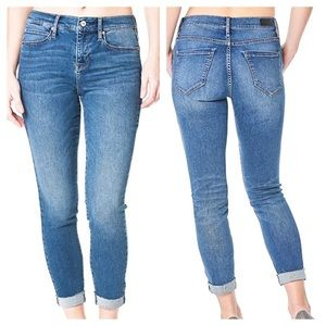 Nicole Miller Soho High Rise Skinny Cropped Jeans
